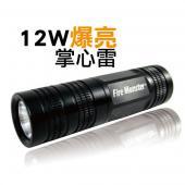 Fire Monster 12W 爆亮掌心雷 LED 手電筒 / 車燈 / 釣魚燈